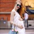 2015 Novo Verão Sem Mangas Babados Vestidos de Maternidade Roupas Grávidas Mulheres Maternidade Ocasional One piece-Vest/Tanque/saia
