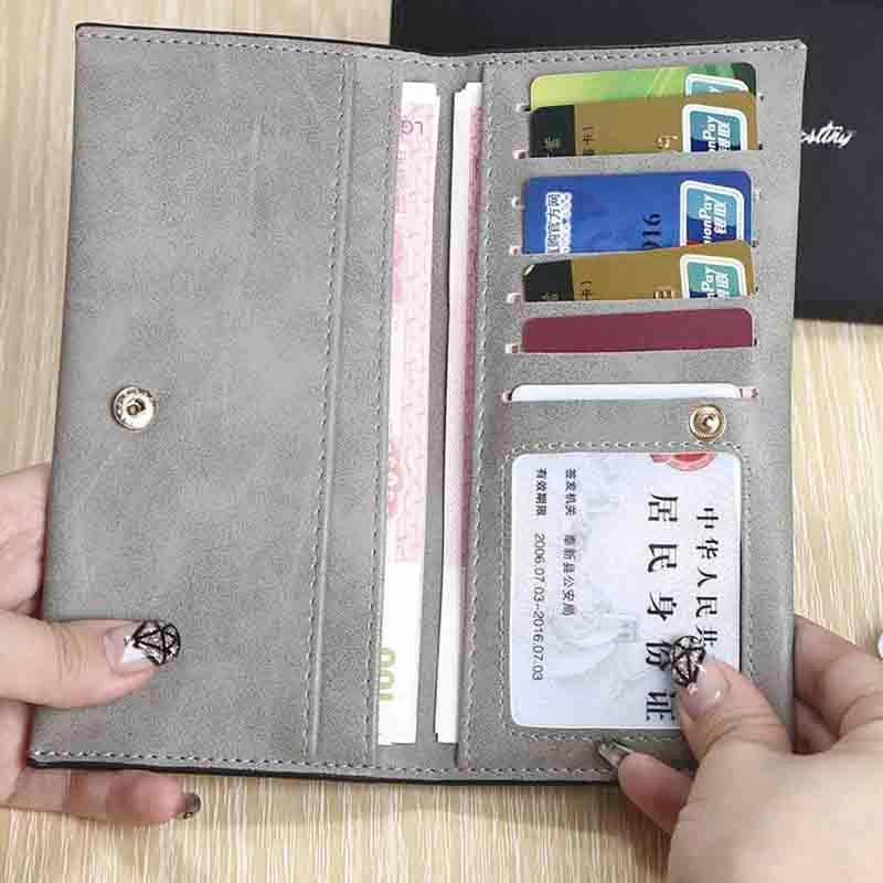 купить Reiwalker Women Wallets Brand Design PU Leather Purse Hasp Fashion Dollar Price Long Wallets For Female по цене 392.42 рублей