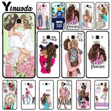 Yinuoda Black Brown Hair Baby Mom Girl Queen Black Soft Shell Phone Case For Samsung J6 2018 J7 2018 J4 puls J6 puls J730 J8(China)