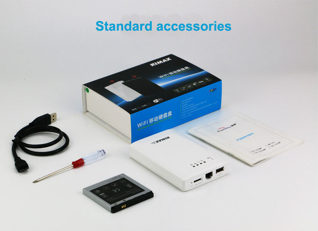 1 unid/lote blueendless 4000 mah Banco de la Energía Inalámbrica juego para Hdd ssd casos WiFi convertidor USB 3.0 a sata 2.5 ''HDD Casos U25AWF