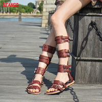 BEANGO Summer 2017 New Arrival Girls Sandal Boot Punk Street Style Buckles Bandage Open Toe Rome