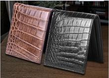 100% genuine crocodile leather skin  credit card holder alligator skin wallets and purse fashion wallet for men