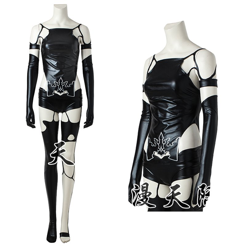 Games NieR:Automata YoRHa No. 2 Type A Cosplay Costumes Regular Size S-XXL Bandage Battleframe lingerie Clothing Long Wig