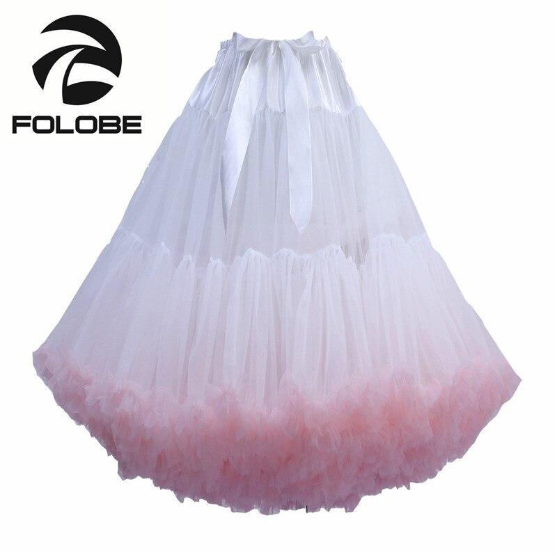 FOLOBE White Knee Length Tulle font b Skirt b font Vintage Tutu font b Skirts b