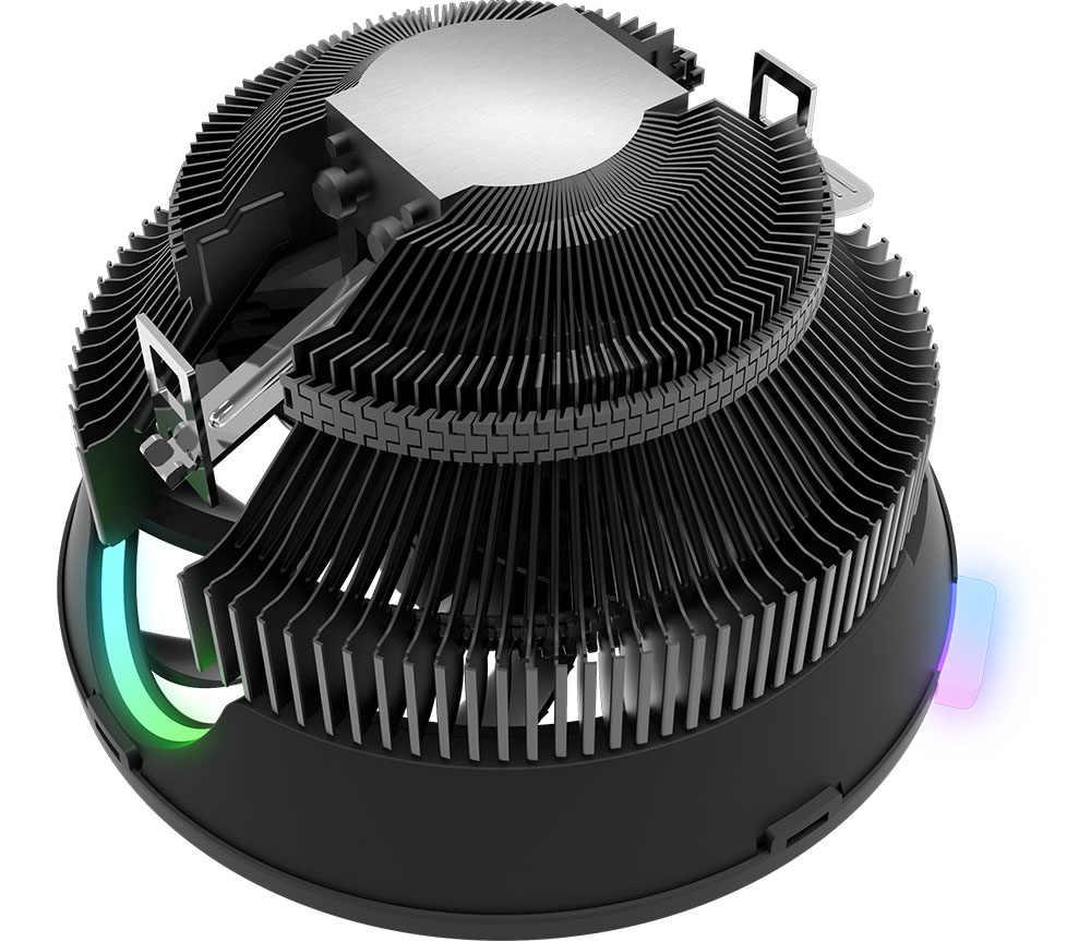Dark flash Aigo PC CPU برودة المبرد بالوعة الحرارة مروحة LGA/115X/775/AM2/AM3/AM4 3Pin LED وحدة المعالجة المركزية التبريد AMD إنتل LED 120 مللي متر برودة
