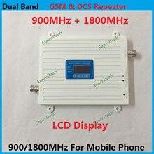 LCD Display ! Dual Band DCS 1800MHz GSM 900Mhz Celullar Signal Booster , GSM DCS 2G 4G Mobile Phone Signal Repeater Amplifier
