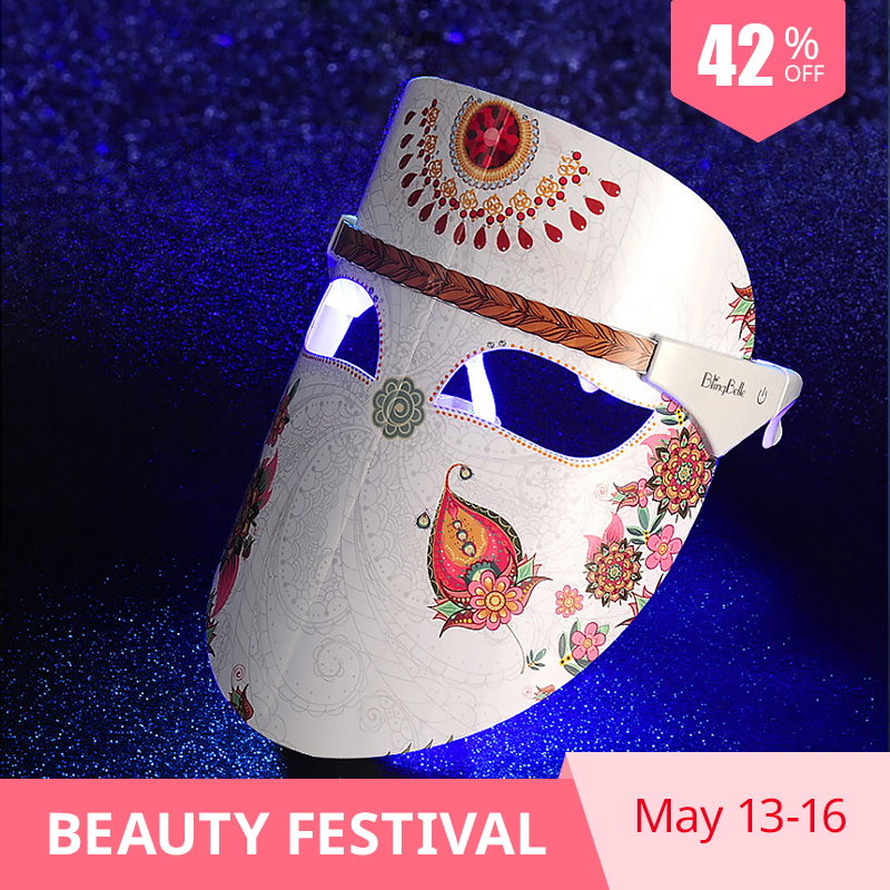 BlingBelle Led Facial Mask Skin Care Rejuvenation Essence Lead In Wrinkle Acne Removal Led Light Therapy