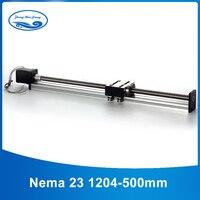 12mm linear guide rail 1204 ball screw linear guide linear rails cnc effective stroke 500mm + 23nema stepper motor