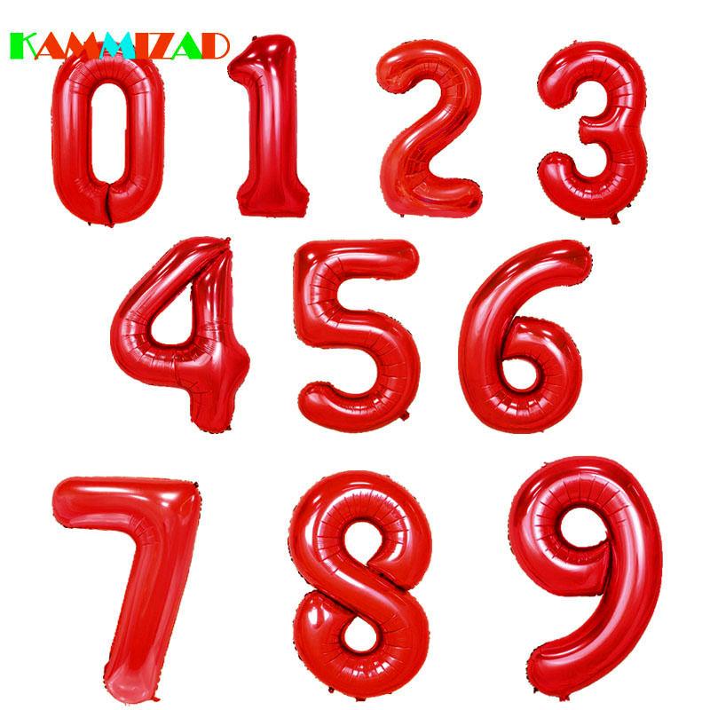 Anniversario Matrimonio Numeri Lotto.Numero Palloncini 40 Pollici Figura Rosso Festa Di Compleanno