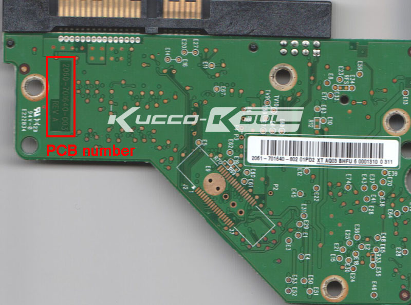 HDD PCB Circuit Board 2060-701640-003 REV A For WD 3.5 SATA Hard Drive Repair Data Recovery