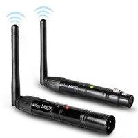 AUCD 1 Set 3 Pin DMX 512 2.4G Wireless Transmitter WIFI Acceptor for DJ Stage Equipment Controller Receiver Transmitting Antenna