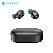 ROCK SPACE обновления True Беспроводной стерео мини-Bluetooth V5.0 гарнитуры HiFi Звук глубокий бас-Earphoens игр с микрофоном