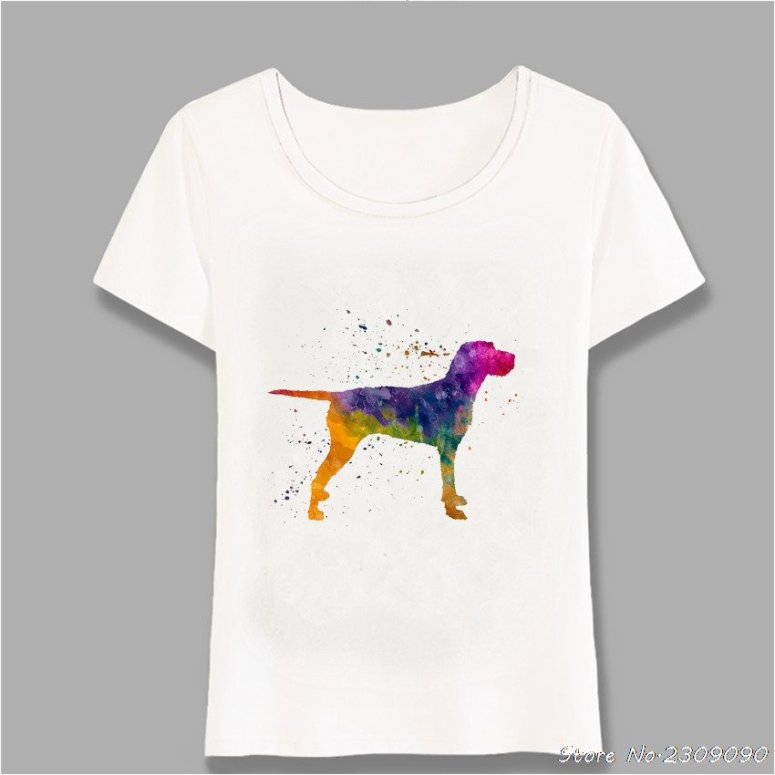 Hungarian Wirehaired Vizsla In Watercolor T-Shirt New Summer Women t-shirt Casual Tops Dog Design Tee Girl Short Sleeve Harajuku