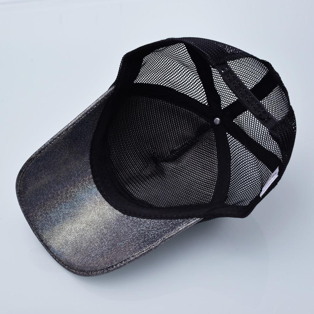 Qızın Günəş Qapağı Snapback Parıldayan Hip Hop Trucker Şapka - Geyim aksesuarları - Fotoqrafiya 5