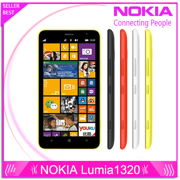 bilder für Nokia Lumia 1320 original brand top Lumia 1320 3G netzwerk mit 5MP kamera Windows Sanierung handy mit freies geschenk