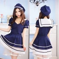 Japanese Anime Japan Girl Sailor Dress School Uniform Lady Lolita Cute Maid Costume Clothing Sexy Female