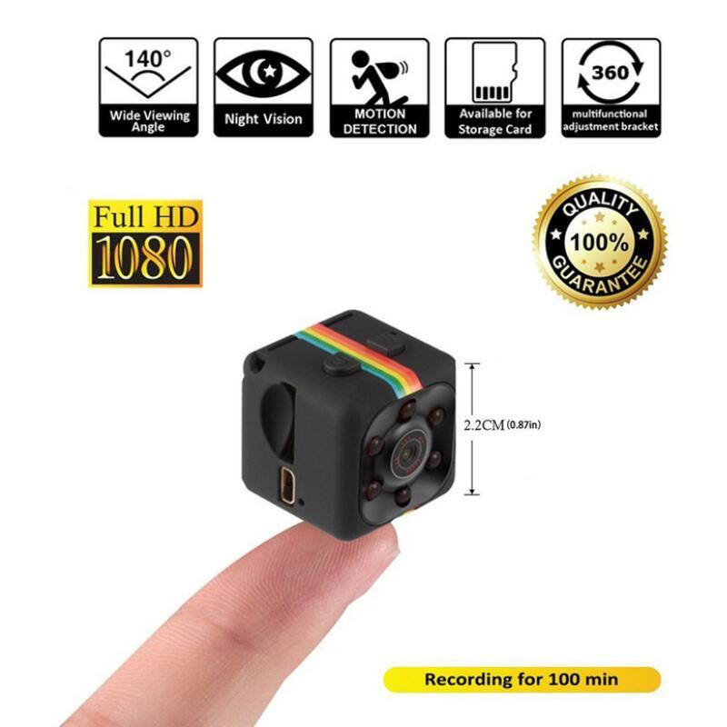 SQ11 Mini Câmera 1080 P HD Filmadora Bateria De Lítio Monitor Do Bebê de Vídeo Gravador de Voz DV Esportes Câmera Apoio TF Cartão