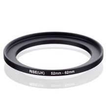 original RISE(UK) 52mm 62mm 52 62mm 52 to 62 Step Up Ring Filter Adapter black