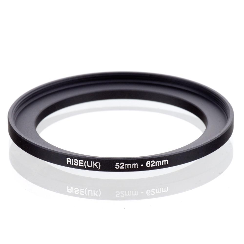 original RISE(UK) 52mm-62mm 52-62mm 52 to 62 Step Up Ring Filter Adapter black free shipping