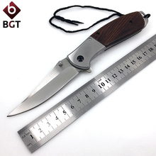 Camping EDC Folding Knife 3Cr13 Blade Wood Handle Utility Tactical Survival Multi Knives Hunting Pocket Combat Portable Tools wtt tactical folding hunting knife 5cr13 blade utility combat camping edc pocket knives for survival outdoor rescue multi tools