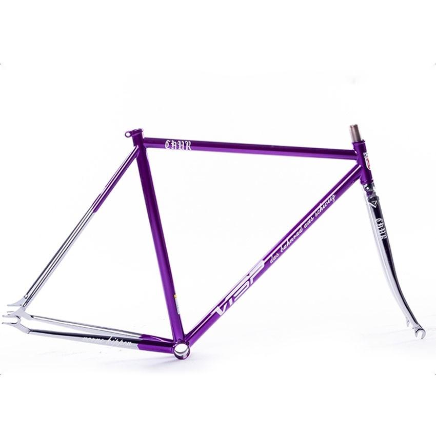 chrome molybdenum steel restoring ancient gold plating visp bike frame fixed gear bike 700c 54cm 58cm