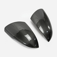 Car Accessories For KIA K5 Optima JF 2016+ Carbon Fiber Side Mirror Cover Stick On Type Glossy Fibre Drift Racing Body Kit Trim