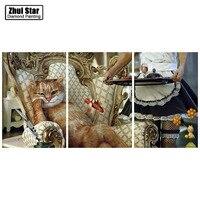 Full Drill Square Diamond 5D DIY Diamond Painting Cat And Maid Diamond Embroidery Cross Stitch Rhinestone