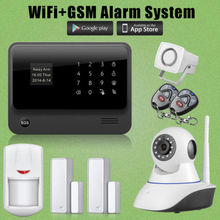 Etiger Venta Caliente GSM GPRS WiFi Alarma Antirrobo + Siren + Cámara de Red IP