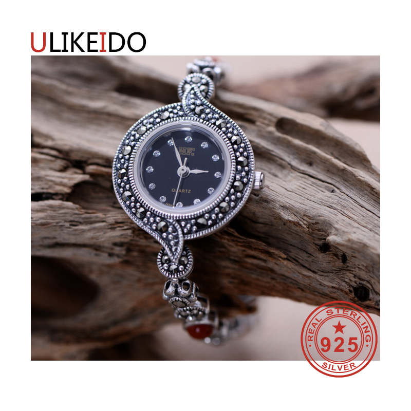 100% Pure 925 Sterling Silver Watch Men Fashion Hand Chain For Women Thai Silver Jewelry Charm Bracelet Homme 1535 925 sterling silver mens bracelets fashion domineering classic hand chain for men and women special jewelry charm bracelet 267