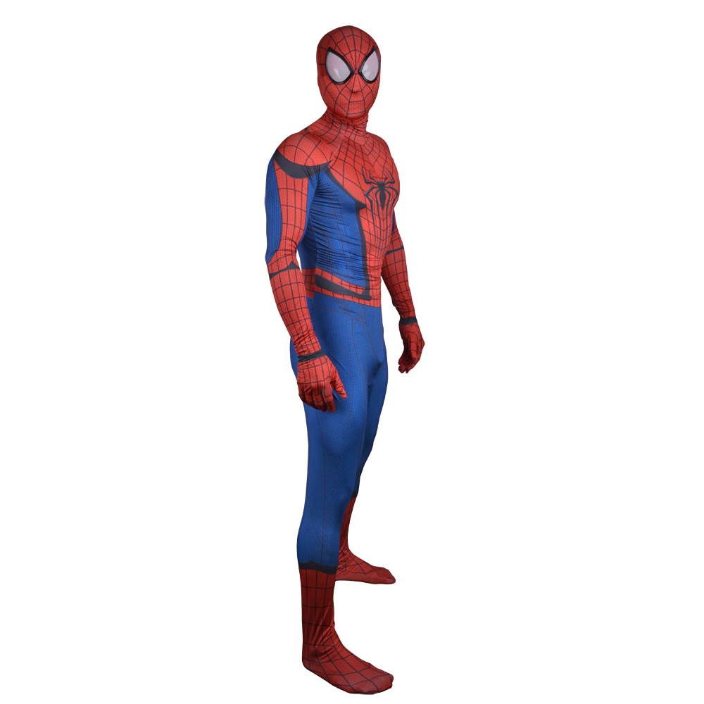 New Spiderman Costume Adult The Amazing Spider Man Cosplay Spandex Full Body Skin Suit Spider-Man Homecoming Superhero Costume