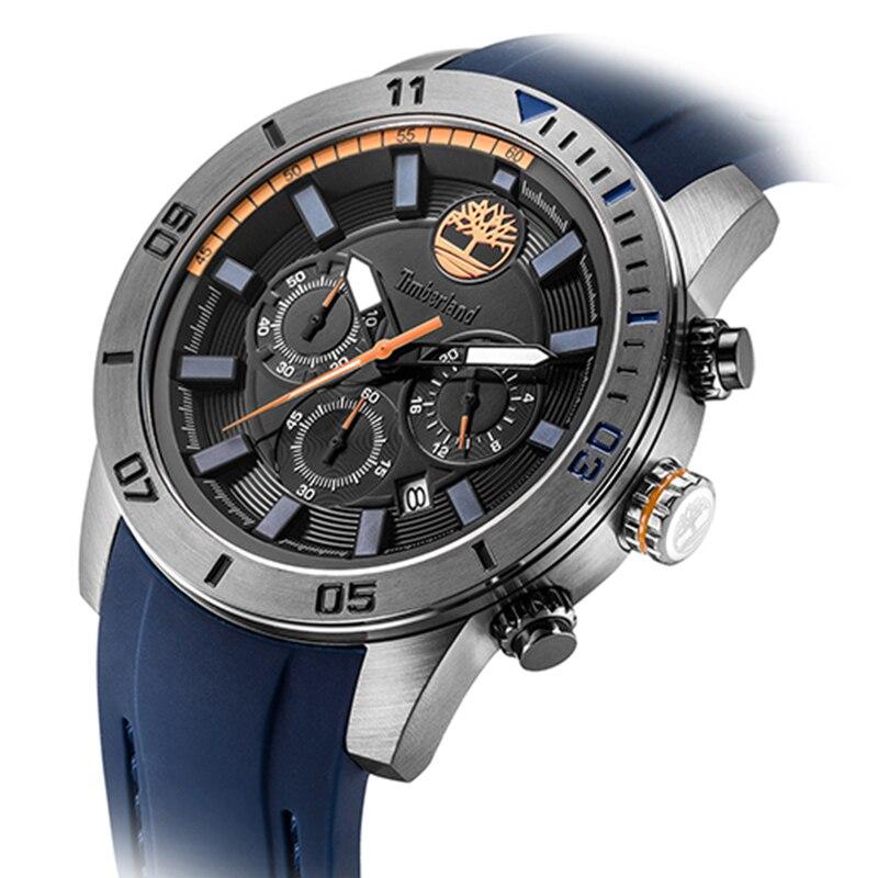 0f251d00871 Timberland Mens Relógios Ao Ar Livre relógio Do Esporte Do Cronógrafo  Homens Resistentes À Água Relógios de Quartzo Silicone T14524 em Relógios  de quartzo ...