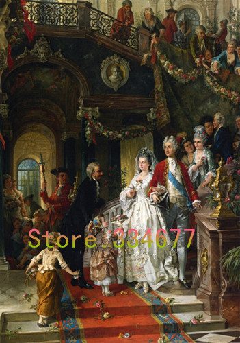 Palace Wedding Painting Embroidery Needlework Crafts 14CT Unprinted DMC DIY Quality Cross Stitch Kits Set Handmade Arts Home