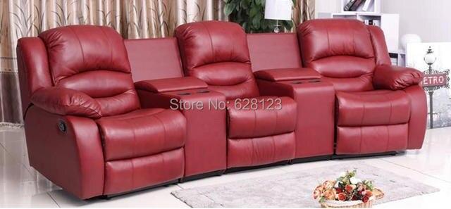 1050 Cinema Sofa L Functional Multifunctional Genuine Leather Handmade Home Theatre Sofas