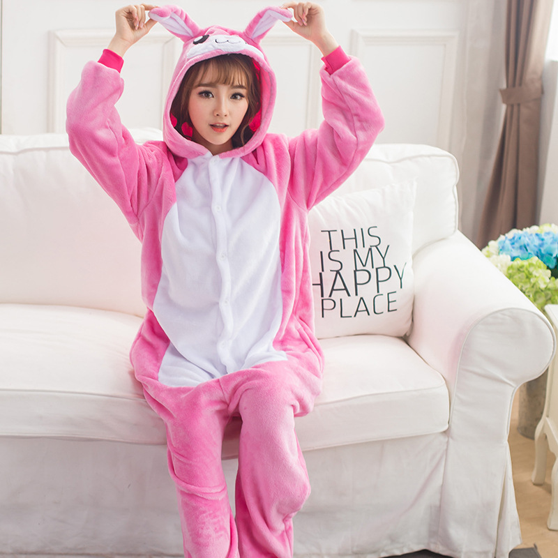 Pink Rabbit Bunny Kengurumi Onesie Adult Pyjamas Animal Womens Pajamas Pijama Pijamas Py ...
