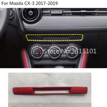 car inner outlet vent control Seat heater CD frame Socket Charge lighter switch trim 1pcs For Mazda CX-3 CX3 2017 2018 2019