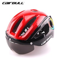CAIRBULL Men Women Mountain Road Bike Helmet Integrally Molded Helmets Sunscreen Glasses Bicycle Safe Hat Capacete