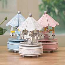 Wood Carousel music box Pavilion wooden Christmas gift, unusual gifts, home decoration