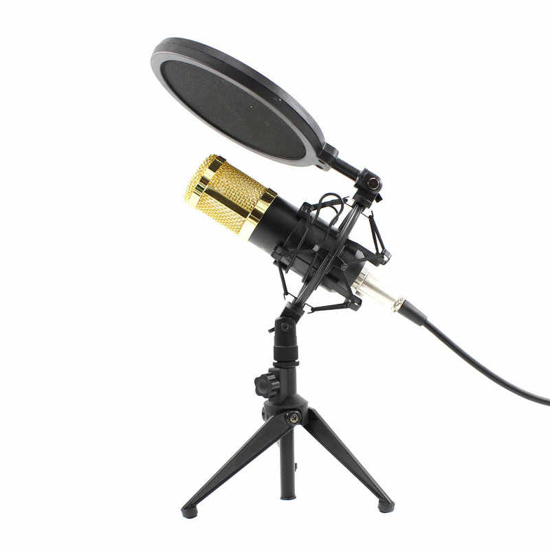 BM800 Professional Microphone Condenser BM 800 Microphone for Video Recording Radio Studio Microphone for Computer Shock Mount