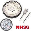 Высокая точность автоматические механические наручные часы движение день дата набор NH35 NH36