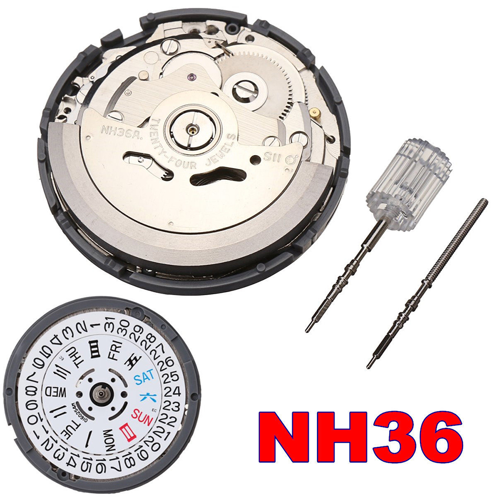 High Accuracy Automatic Mechanical Watch Wrist  Movement Day Date Set NH35 NH36 Fpr Wholesale Drop Shipping