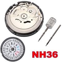 High Accuracy Automatic Mechanical Watch Wrist NH35 NH36 Movement Day Date Set