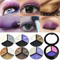 Professional 3 Colors Natural Matte Eyeshadow Glitter Smoky Cosmetic Set Makeup Eye Shadow