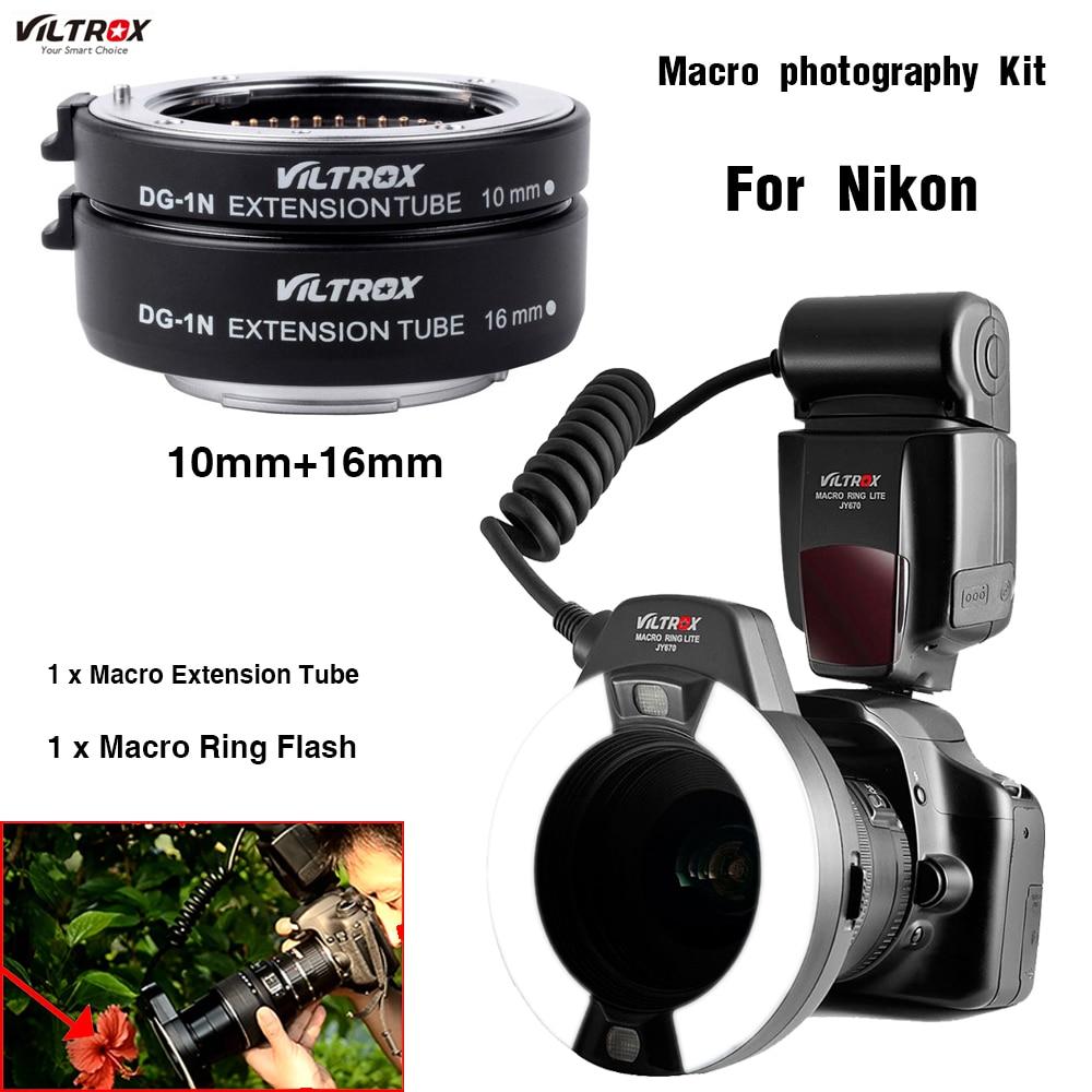 Macro Kit Flash Ring Viltrox JY-670 a prodlužovací trubka makra - Videokamery a fotoaparáty - Fotografie 1