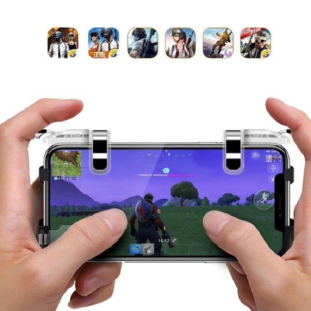 DATA FROG 2 Pack Mobile Controller Trigger Game Fire Button Phone Joystick For PUBG For IPhone 7 8 Plus X For Xiaomi Android