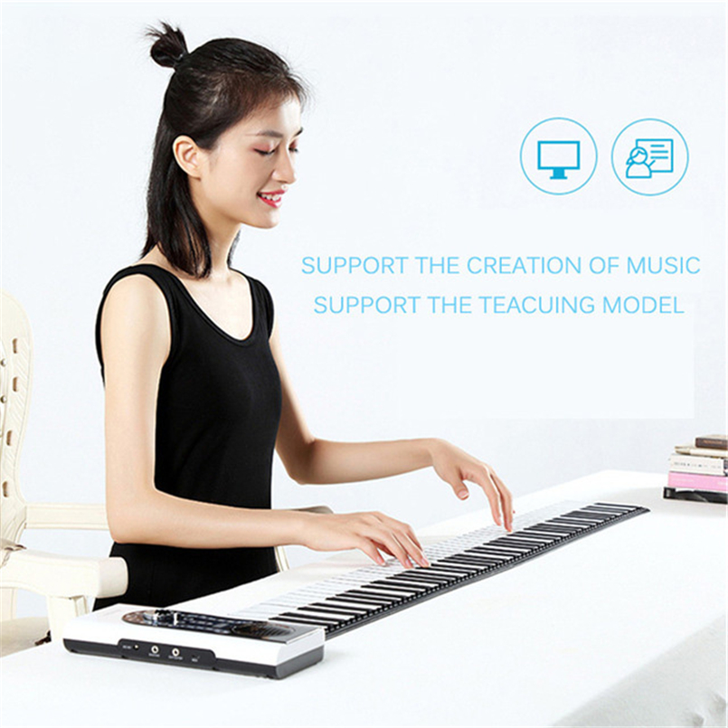 DoReMi Midi Keyboard Piano Folding 88 Keys Electronic Organ Roll Up Pianos Electronique Portable Musical Instrument S2088-88 doremi intelligent professional hand rolled electronic piano 49 keys children silicone folding portable piano s2049