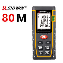 купить Digital Laser distance meter New 80m 262ft Bubble Level Tool measure Tape for Area/Volume M/in/Ft Rangefind Range finder Tester по цене 1534.49 рублей