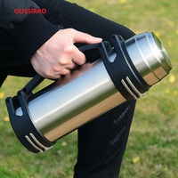 Stainless Steel Insulated Thermos Bottle 1L/2L Outdoor Travel Coffee Mugs Thermal Large Capacity Vaccum Water Bottle Thermal Mug
