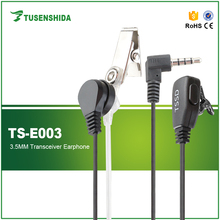 1 Pin 3.5mm In-Ear Convert Acoustic Tube Earpiece with PTT for Walkie Talkie Two Way Radio