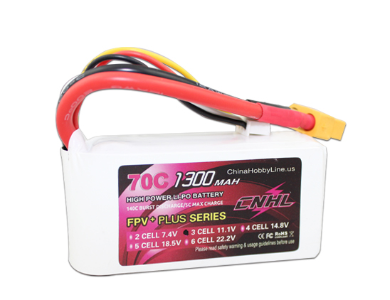 CNHL G+PLUS LI-PO 1300mAh 11.1V 70C(Max 140C) 3S Lipo Battery Pack for RC Hobby with free shipping cnhl g plus li po 1300mah 14 8v 70c max 140c 4s rfi lipo battery pack for rc hobby with free shipping