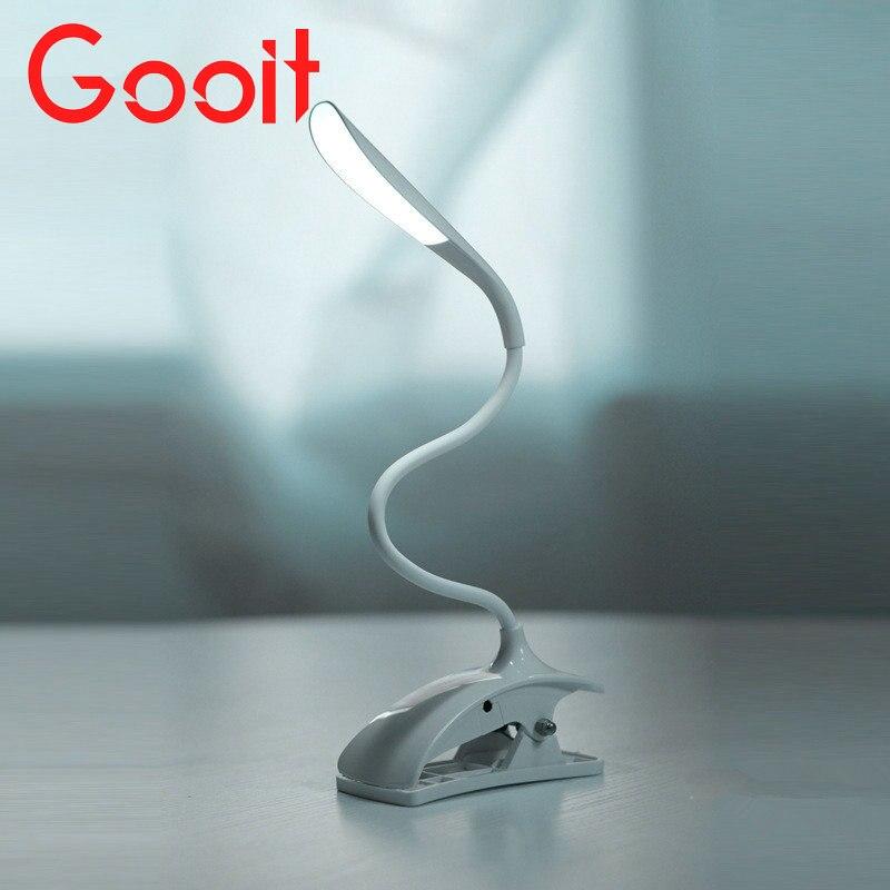 Гибкий сенсорный Сенсор Clip-On светодиодные ноутбук/стол исследования настольная лампа